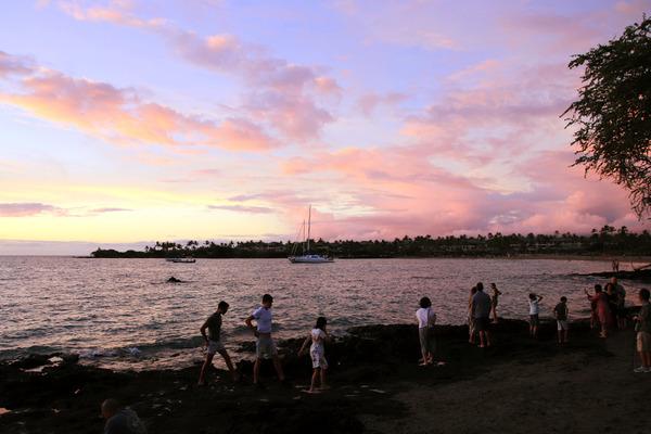 ハワイ ワイコロア サンセット 11