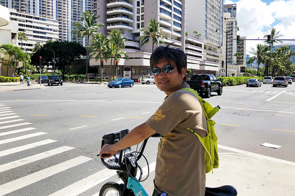 ハワイのレンタル自転車BIKIはとても便利 5
