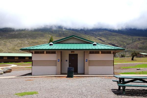 ハワイ サドルロードでトイレはここだけ 3