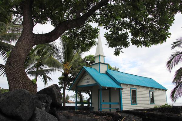 ハワイ島小さなブルーの教会結婚式カハルウビーチ 4