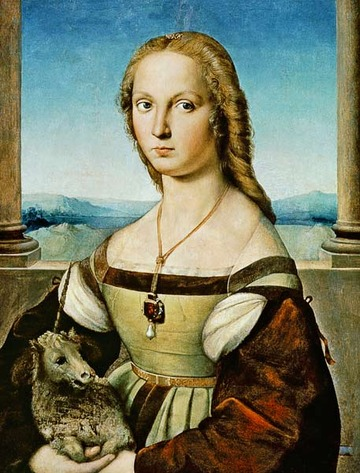 Rafaello's Lady with Unicorn