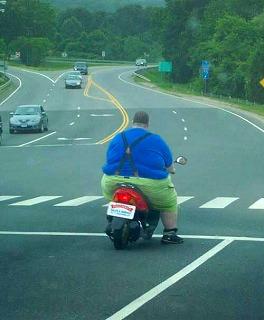 バイクがかわいそう・・