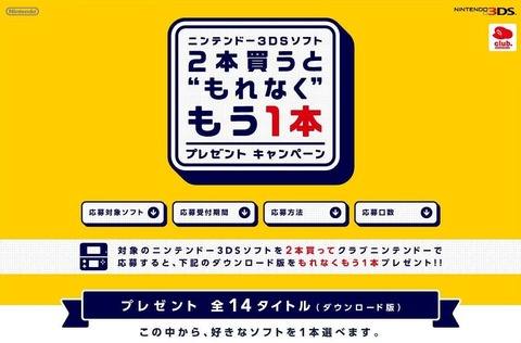 3ds無料プレゼントキャンペーン
