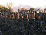鹿児島西南戦争南洲墓地から眺める桜島
