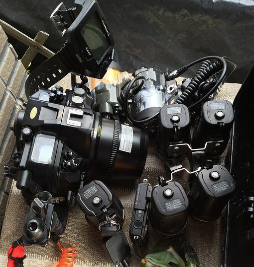水中カメラメンテナンス