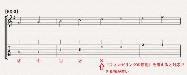 Gメジャースケール『フィンガリングの原則2』EX-3