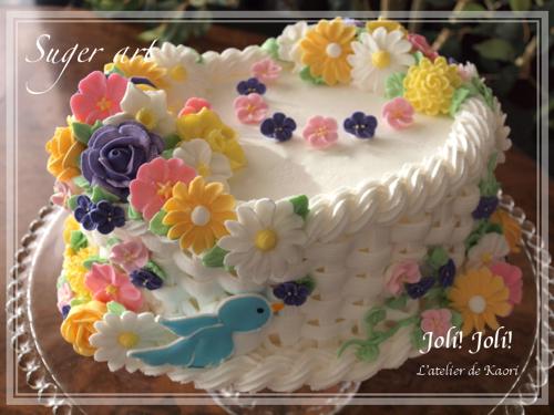 Joli!joli!のブログ-お砂糖の鳥かご(wilton3)