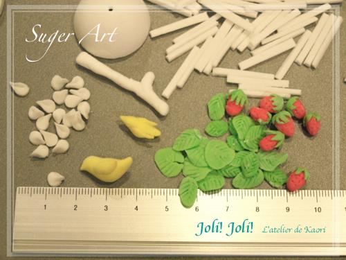 Joli!joli!のブログ-お砂糖の鳥かご(パーツ1)