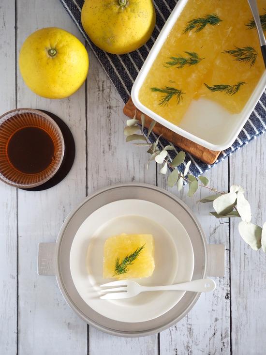 柑橘とハーブの寒天寄せ(完成)④
