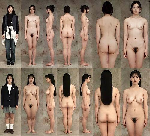 変にポーズ取らせてないところが素人感アリアリで余計にエロいw90年代一般女性の直立ヌード写真集wwww
