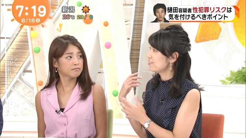 めざましどようび 岡副麻希ちゃんのエロ黒い胸元 180819