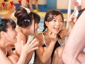 【貧乳動画】貧乳・ミニ系エロ娘たちがプールで男を逆ナンしてスーパーSEX!!?–★pornhub★-ナンパ