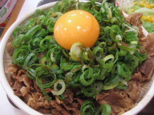 ネギ玉牛丼