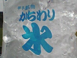 甲子園のカチワリ氷