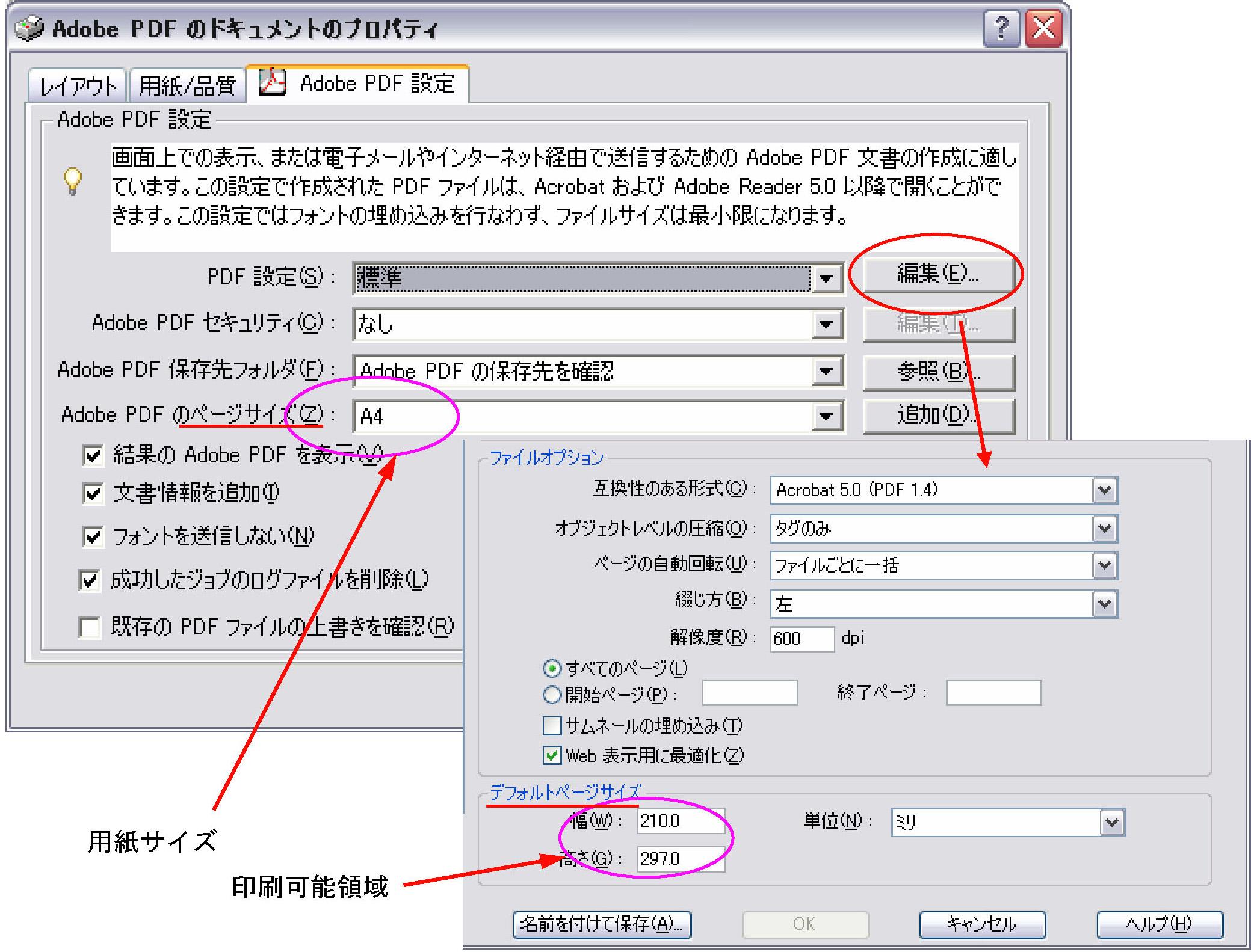 azw pdf 変換 余白