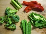 温野菜のカット