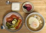 夕食 ニャンコめし+タジフラ蒸し