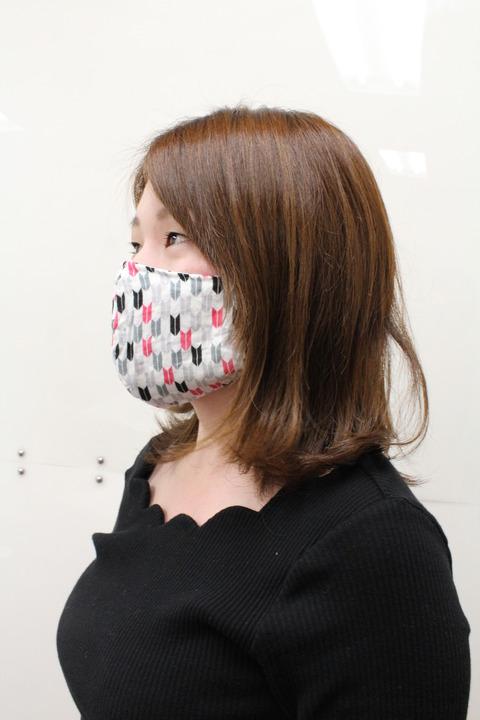 あっすーマスク着用