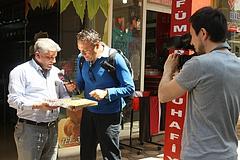 CNNトルコの旅番組の取材