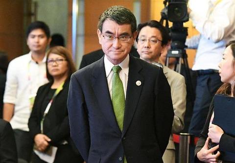 河野氏の「来日されても困る」発言、韓国当局「不適切な発言だ」