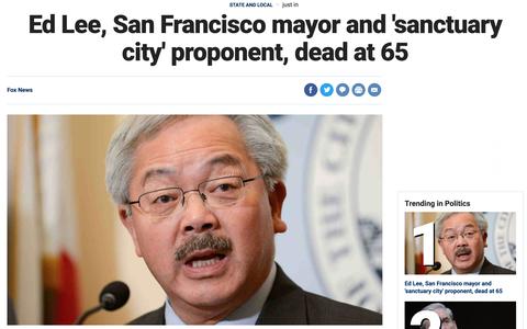サンフランシスコ市長のリー氏、急死