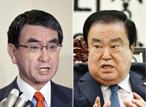 河野外相、韓国国会議長の『天皇による謝罪』発言について「発言には気をつけていただきたい」