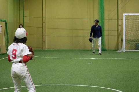 杉内投手とキャッチボール等 H29122_171203_0107