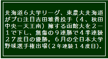 秋田大学 - 北東北大学野球連盟のホーム