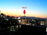 自宅から富士山方面夕方_0002