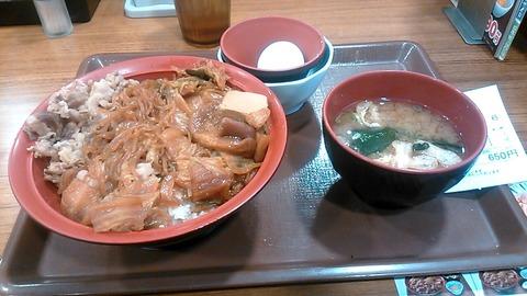 牛すき焼き丼@すき家