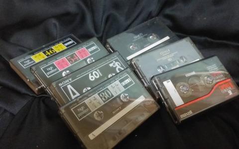 ハイポジ7本中古カセットテープ
