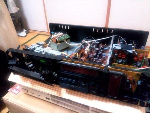 KX-880Dフロントパネル取外し内部清掃中_0060