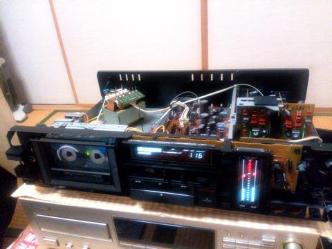 KX-880Dフロントパネル取外し状態で動作確認中_0062