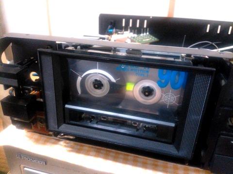 KX-880Dフロントパネル取外し動作確認中(デッキメカ部)_0063