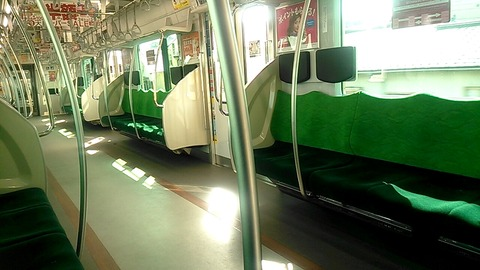 東横線車内風景(2017.3.4)
