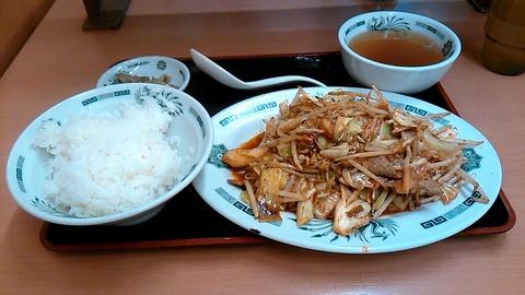 バクダン炒め定食@日高屋