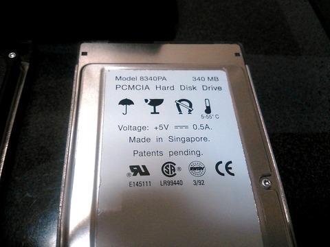 PCMCIA HDD 340MB