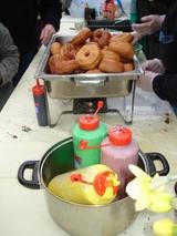 屋台のドーナツ
