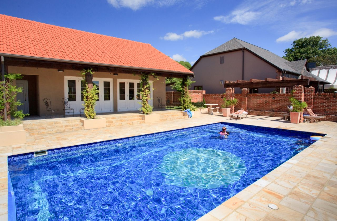 Outdoor Solar Heated Pool