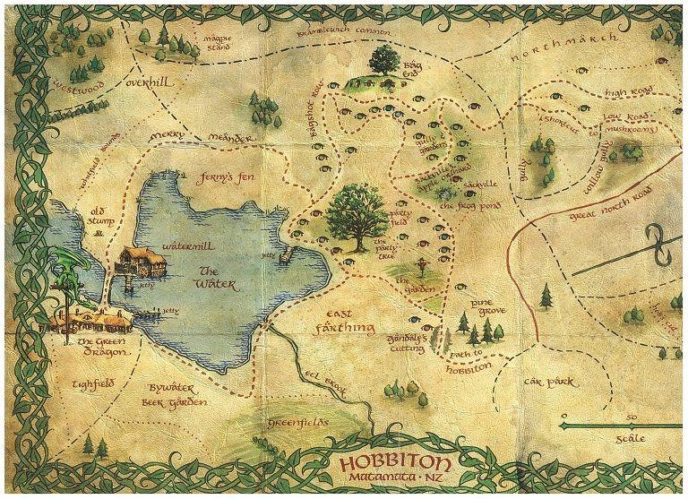 ホビット村マップ