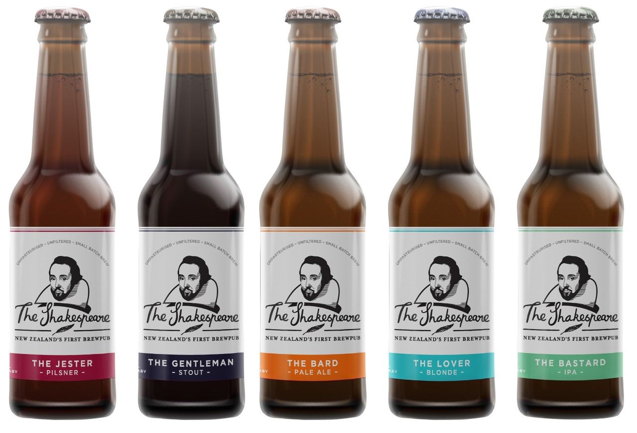 Shakespeare beer range bottles