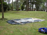 テント組み立て前