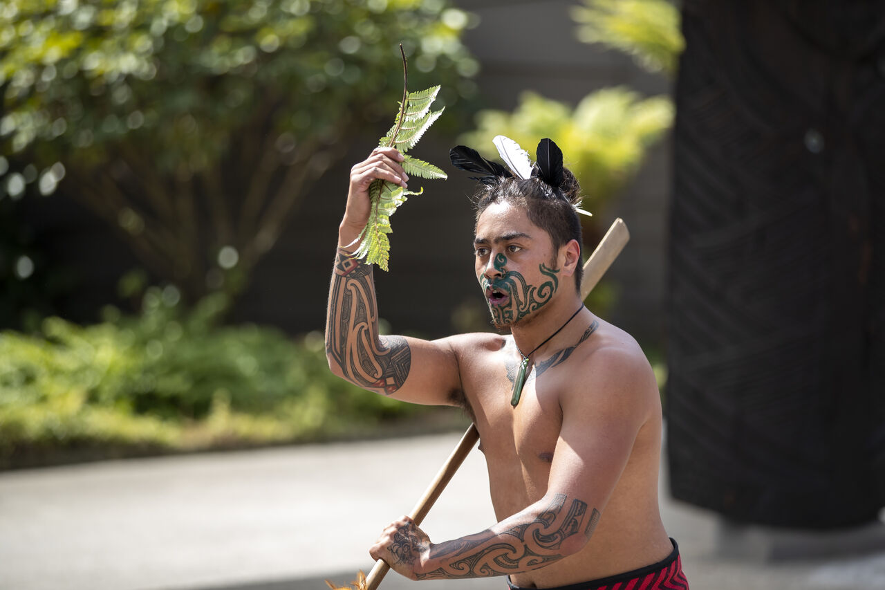Maori welcome at Te Puia