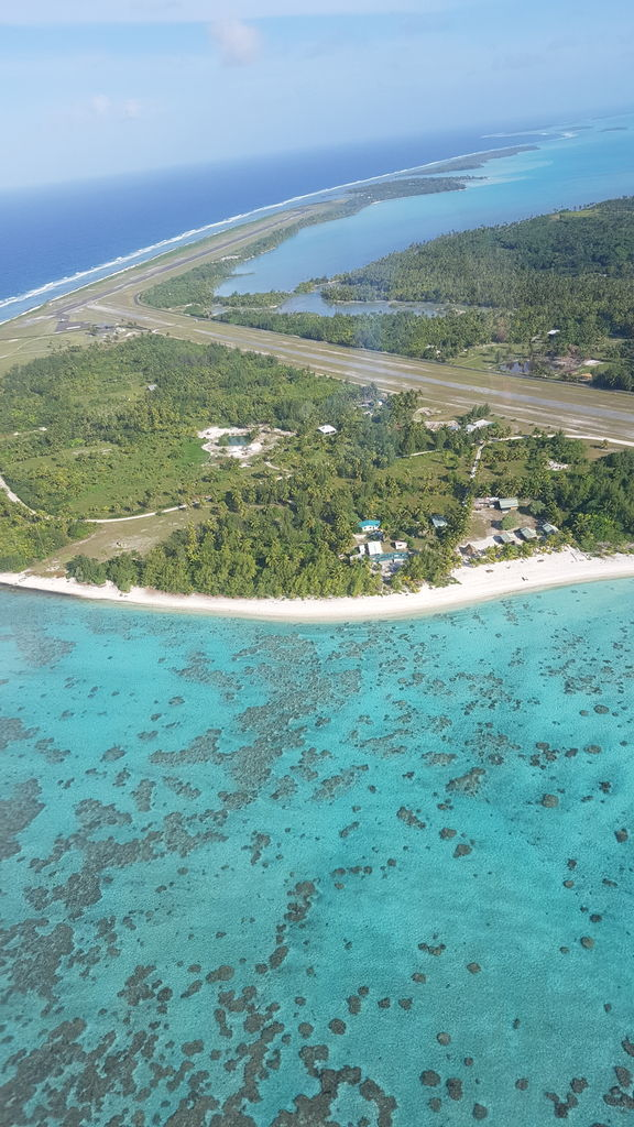AITUTAKI AIRPORT FROM SKY