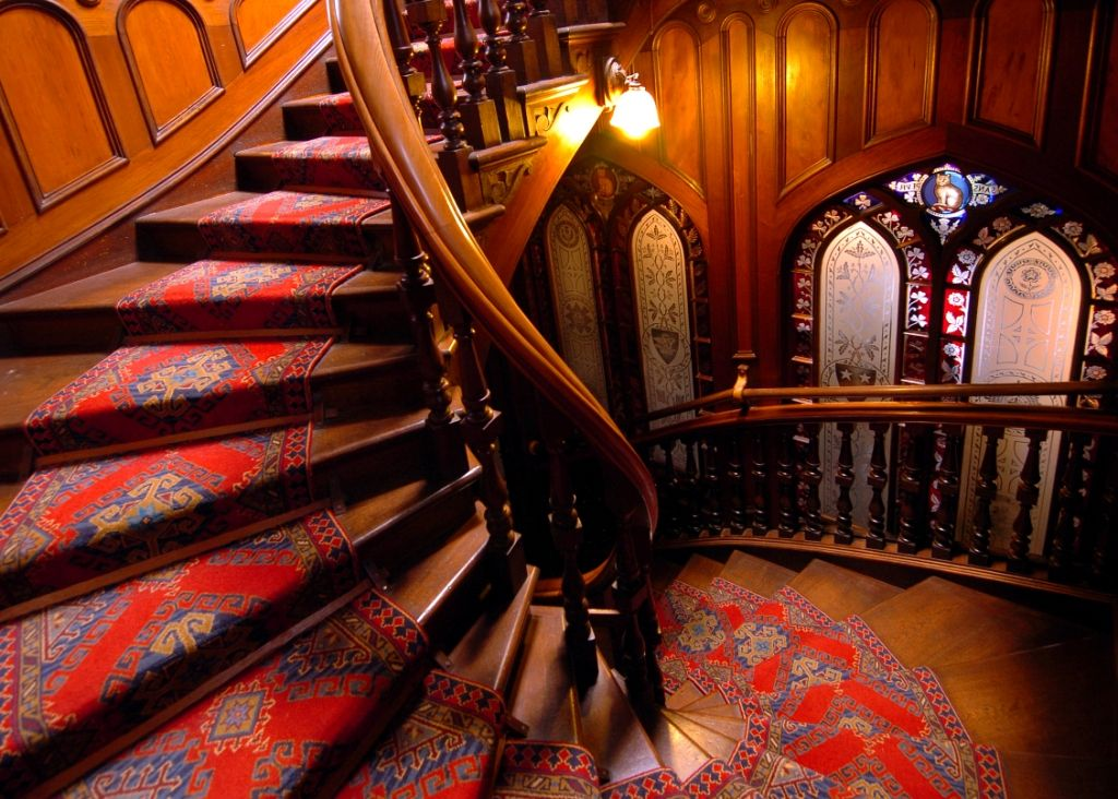 Larnach Castle Staircase & Venetian Glass Wall