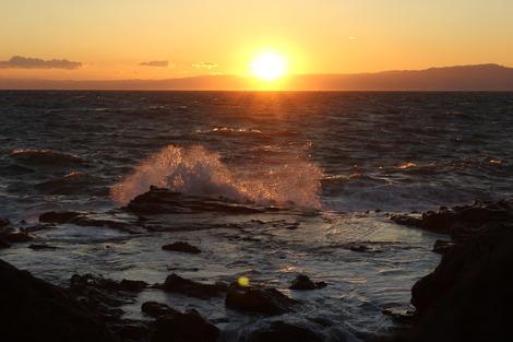 夕焼けの江ノ島にて