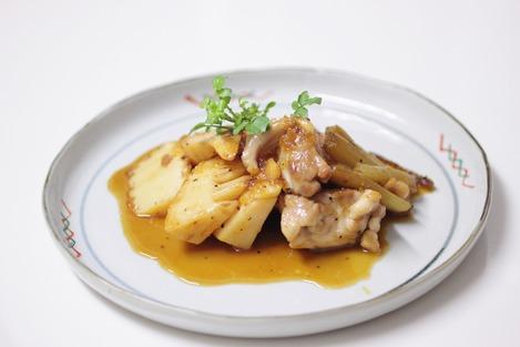 鶏肉と筍の照り焼き