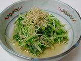 京水菜とカリカリおじゃこのお浸し