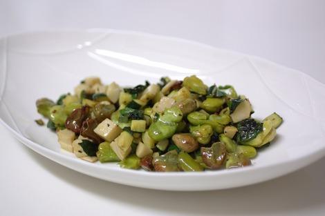 筍と空豆とズッキーニ