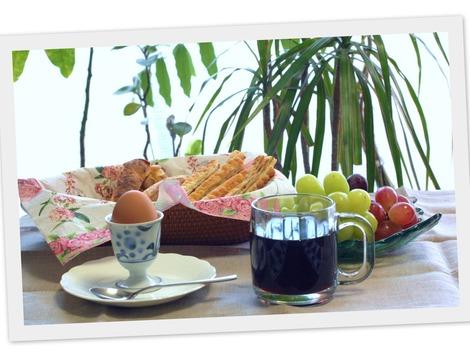 翌日の朝食